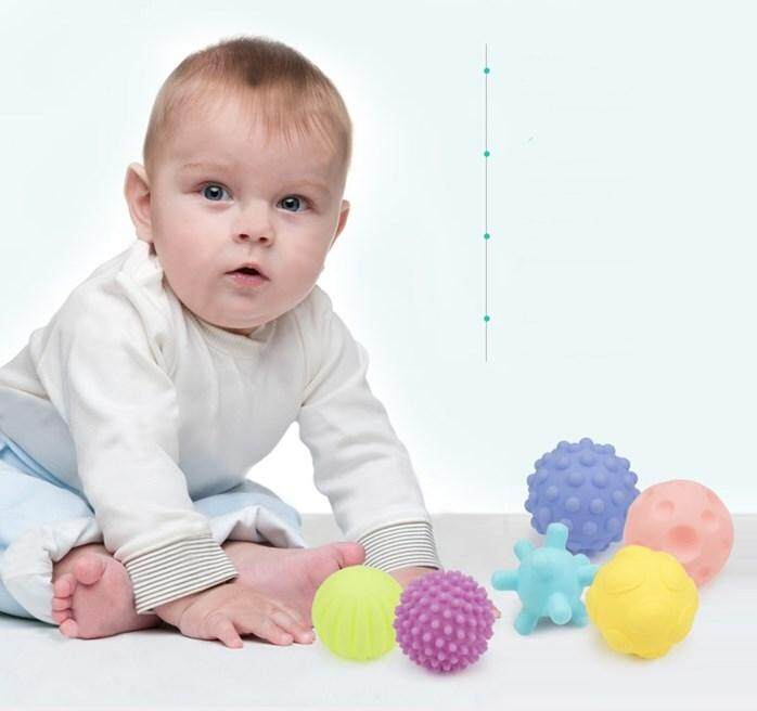 Educational Baby Bouncing Grab Ball Sports Rattles Kids Toys Gift