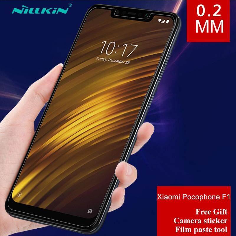 NILLKIN untuk Xiaomi Pocophone F1 dan Poco F1 0.2 Mm Lapisan Kaca Tempered Anti Ledakan Pelindung Layar