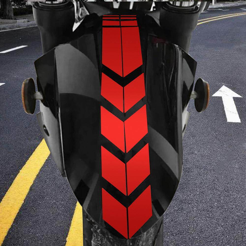Motorcycle reflective sticker sticker on bike bicycle fender moto stickers and decals decoration motorcycle accessories red
