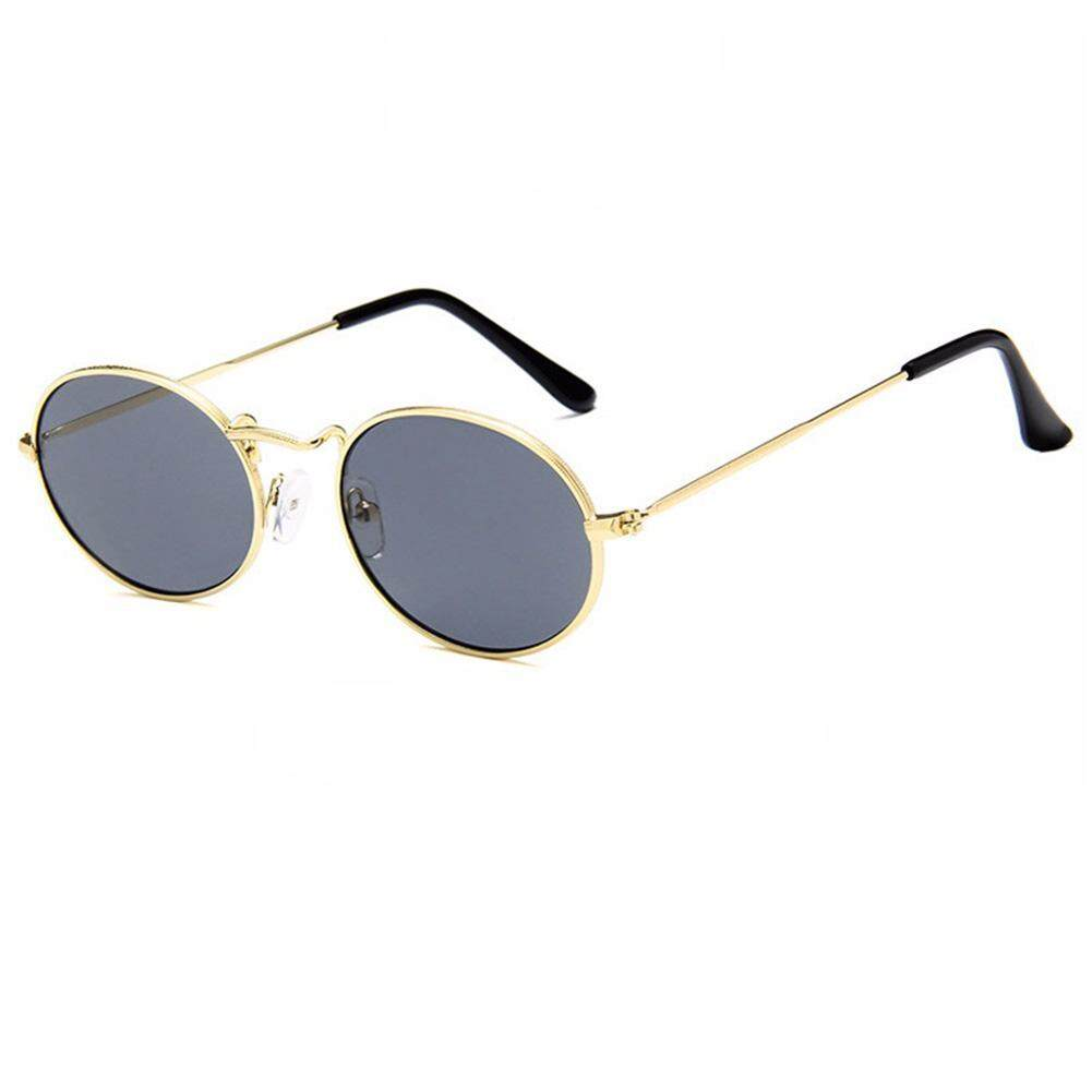 6aa35cfedb462 Qimiao Unisex Outdoor Retro Style Sun Glasses Stylish Metal Frame Oval  Color Lens UV400 Sunglasses for