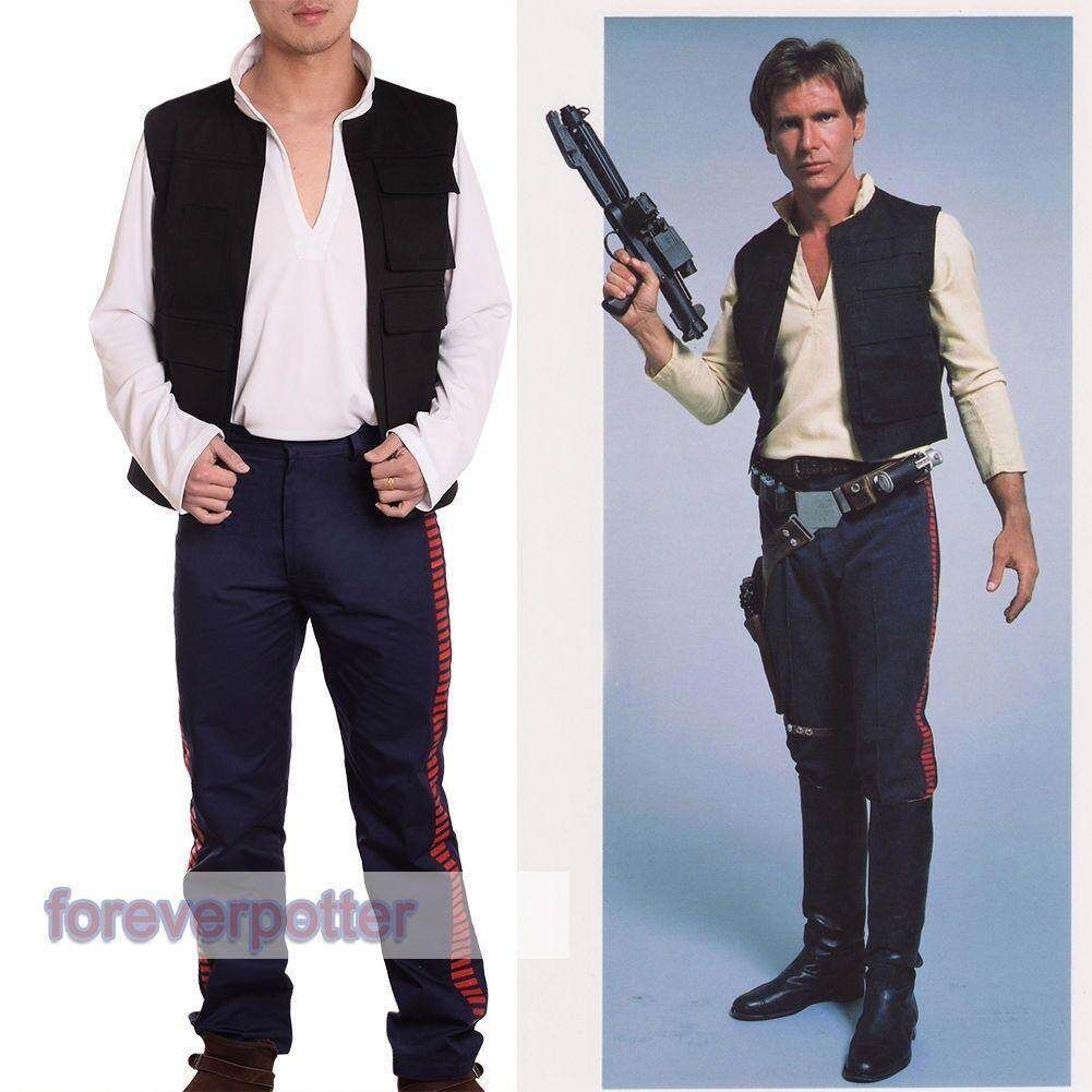 A New Hope Han Solo Outfits Vest +Shirt +Pants Cosplay Fancy Dress - intl