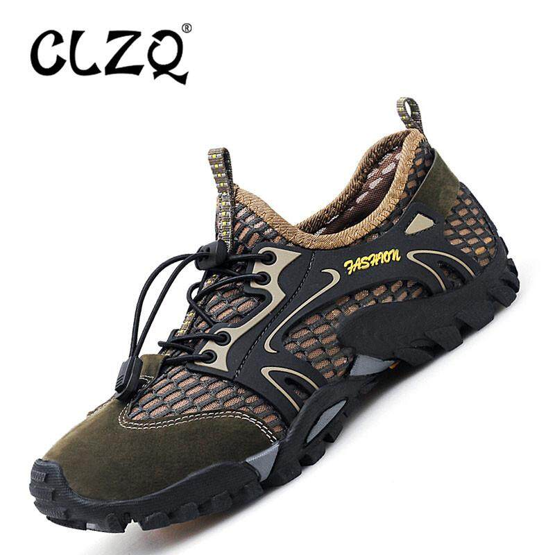 b0d93b6d9ca CLZQ 2019 Men Outdoor Sneakers Breathable Hiking Shoes Big Size Men Women  Outdoor Hiking Sandals Men