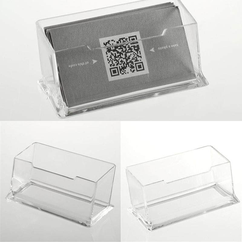 Acrylic Portrait Desktop Business Card Box Postcards Transparent Holder - intl