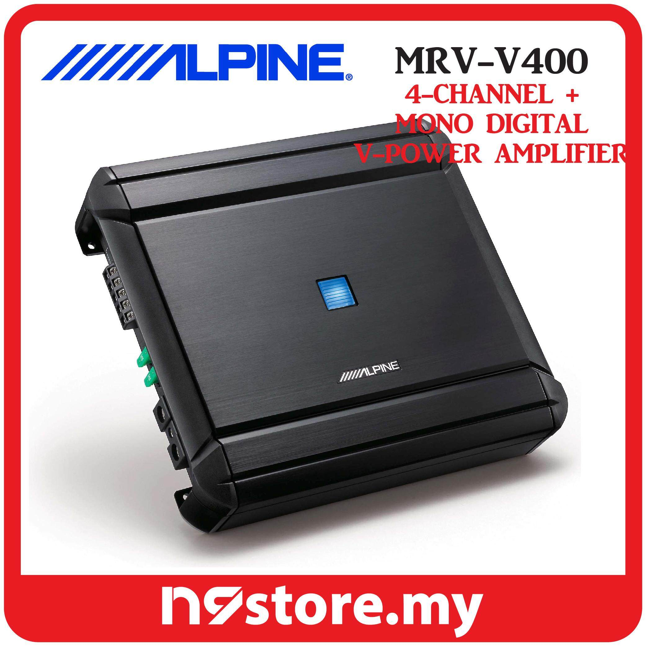 Alpine MRV-V500 Class-D 5 Channel Amplifier 40W X 4, 150W X 1 RMS At 4 OHMS