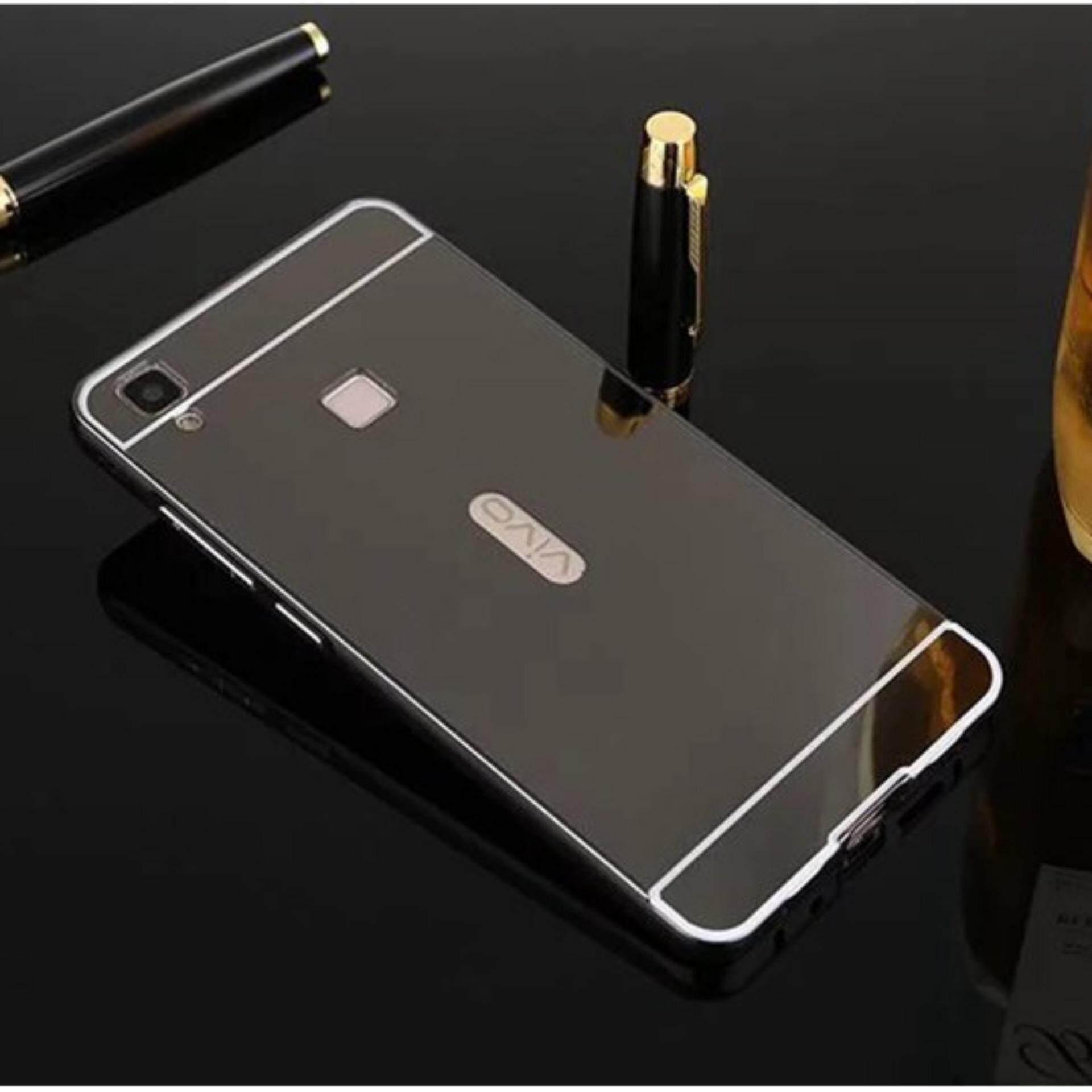 Elike For VIVO V3 Max Case 2 in 1 Plating Aluminum Frame Metal Mirror PC Hard Phone Cover - intl