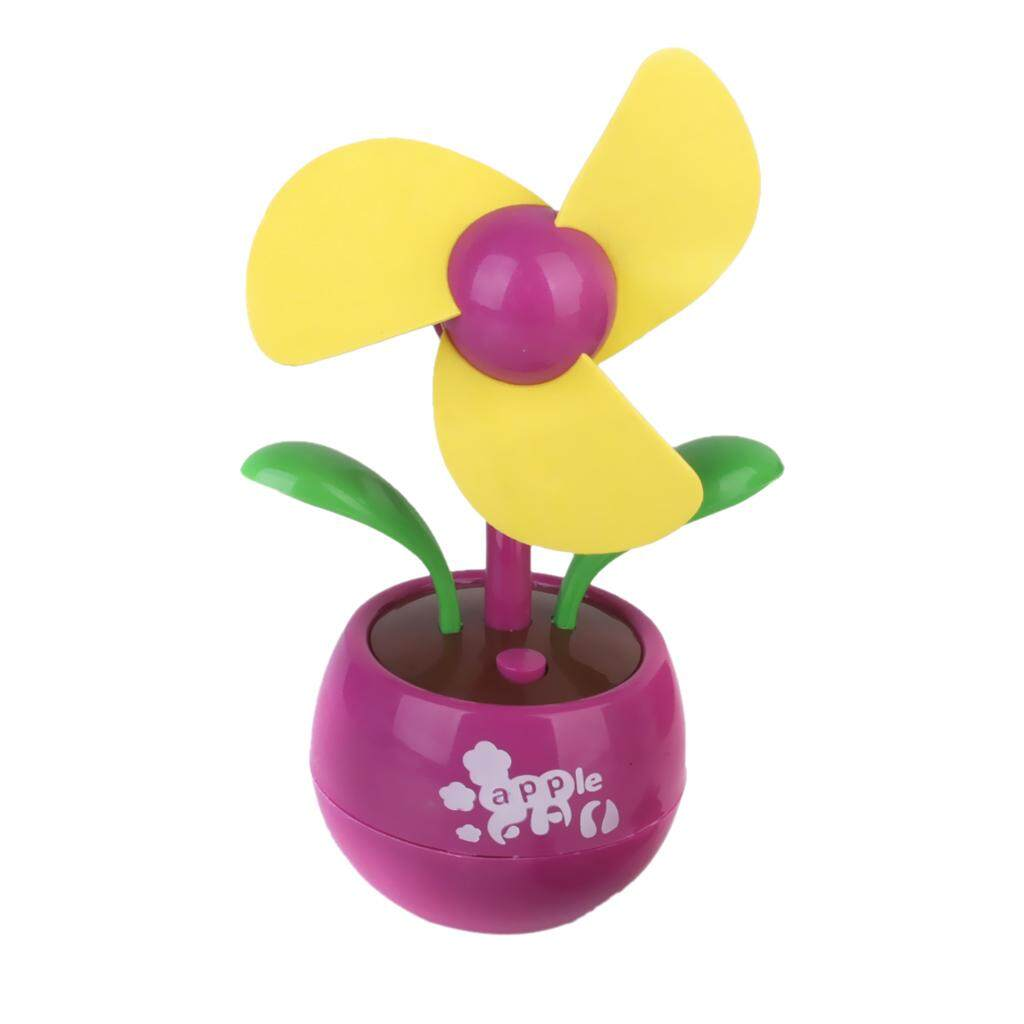 MagiDeal Mini Flower USB Fan Desktop Fan Gift - Pink and Green - intl
