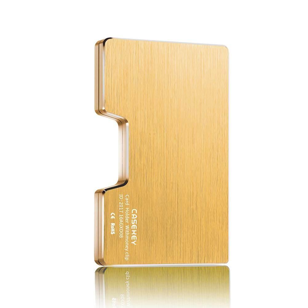 DE Men Aluminum Alloy Wallet Money Clip RFID Blocking Slim Cash Credit Card  Holder Purse - 08dfbd2c1ad08