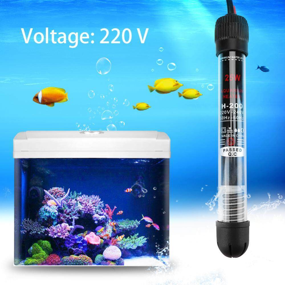 25W/50W/100W /200W/300W 220V Aquarium Submersible Fish Tank Automatic Water  Heater EU Plug - intl