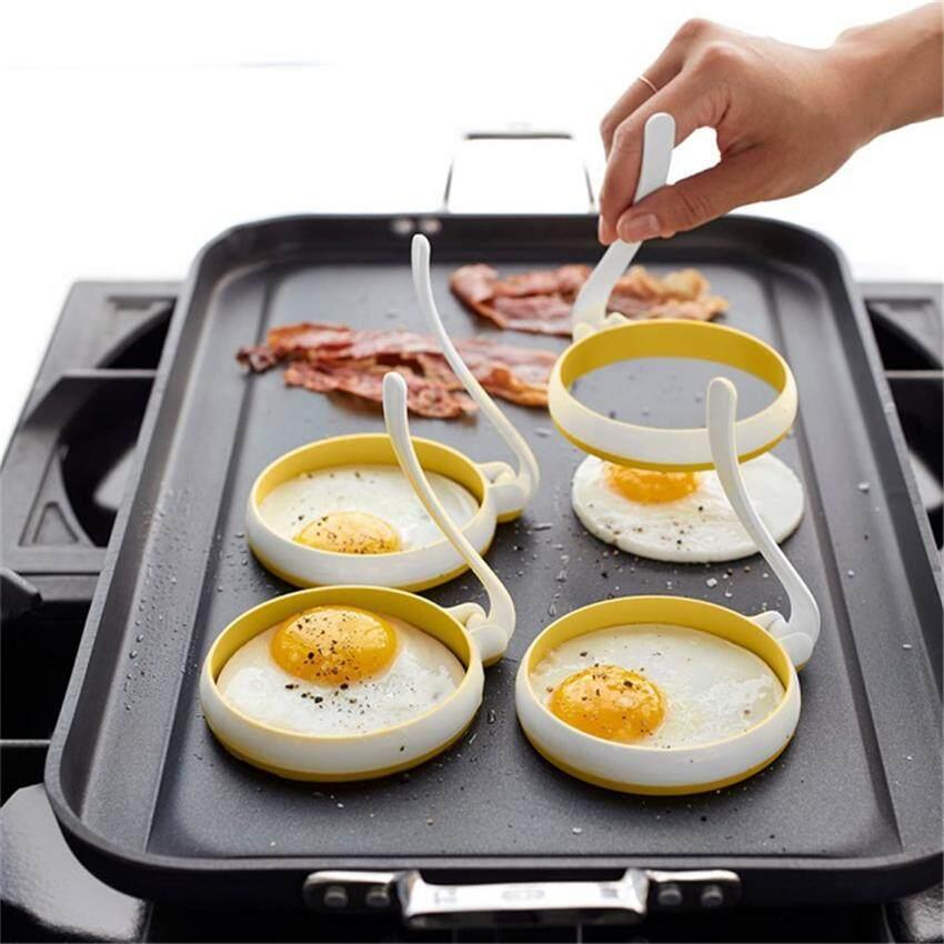 2018 Baru 2 Pcs Round Cincin Telur Silikon Pembuat Pancake Mudah Cetakan Telur Goreng Non-