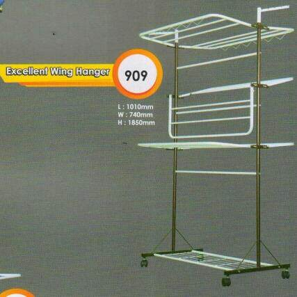 Excellent wing hanger/ clothes drying rack / Ampaian Baju / Ampaian Pakaian / Penyidai Baju / Penyidai Pakaian WM-909 DIY