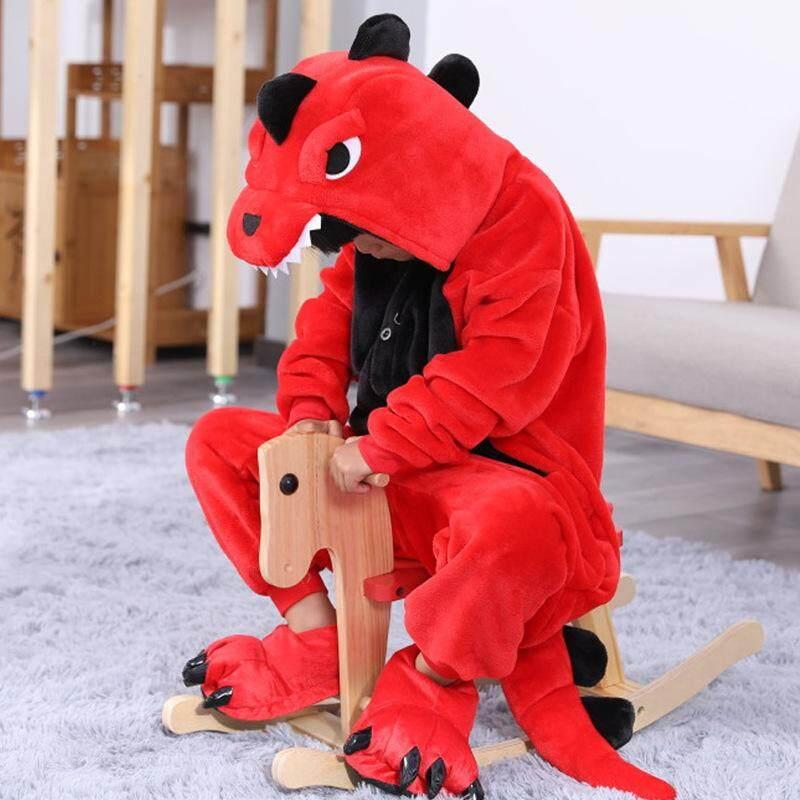 Giá bán Bé Gái Bé Trai Khủng Long Hổ Ếch Dép Nỉ Động Vật Bộ Đồ Ngủ Trẻ Em Cosplay Dễ Thương Pyjamas Bộ Mũ Trùm Đồ Ngủ Động Vật Onesies
