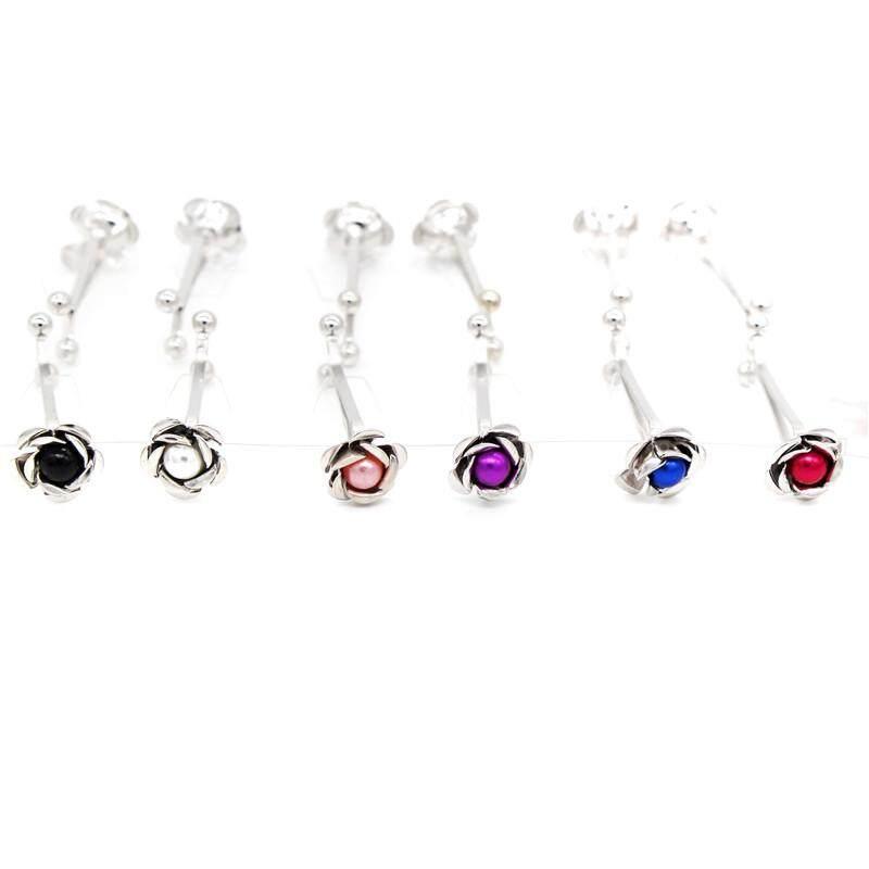 12pcs Rose pin hijab clip abaya jewllery brooch - intl