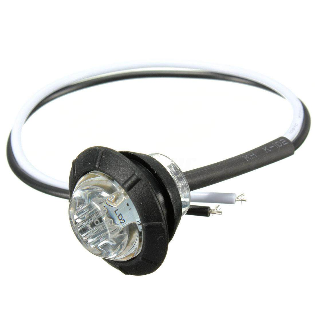 4x 12v Led Side Marker Light Indicator Lamp Truck Trailer Caravan Lorry, White - Intl By Sunnny2015.