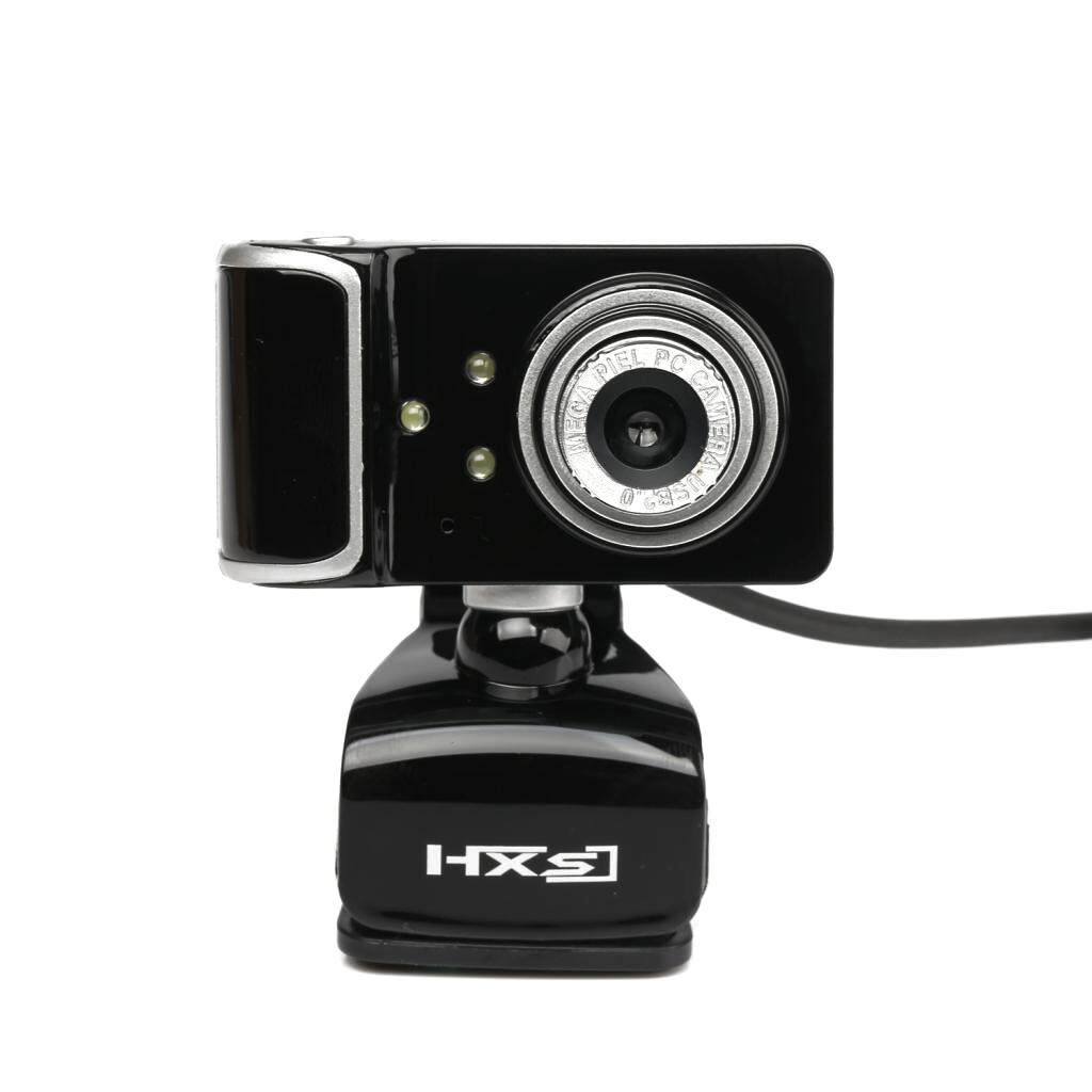 MagiDeal Web Camera USB HD Webcam 3 LED with Microphone Clip-on For Desktop black - intl