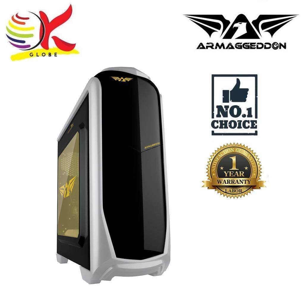 ARMAGGEDDON ZETATRON T9X GAMING CHASSIS BLACK COATED CHASIS SEE THRU SIDE PANEL STEEL STRUCTURE WITHOUT PSU Malaysia
