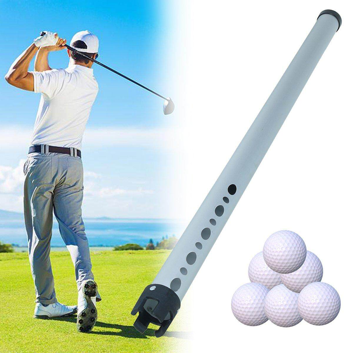 Portable Aluminum Shag Tube Practice Golf Ball Shagger Picker Hold Up 23 Balls By Moonbeam.