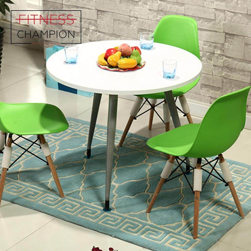 Fitchamp japanese style tripod leg 90cm diameter round dining table cafe meeting table