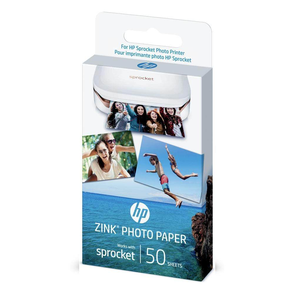 HP ZINK Sticky-backed Photo Paper - 50 sheets, 2 x 3 inch