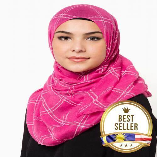 QASEH LONG SHAWL PINK TUDUNG HIJAB MUSLIMAH FASHION