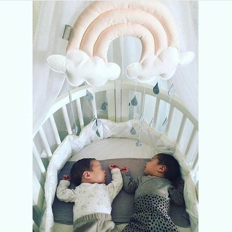 Hình ảnh Children Tent Accessories Baby Toddler Toys Home Decoration Creative Three-dimensional Cloud Raindrops Fabric Bedside Pendant Scene Layout Props - intl