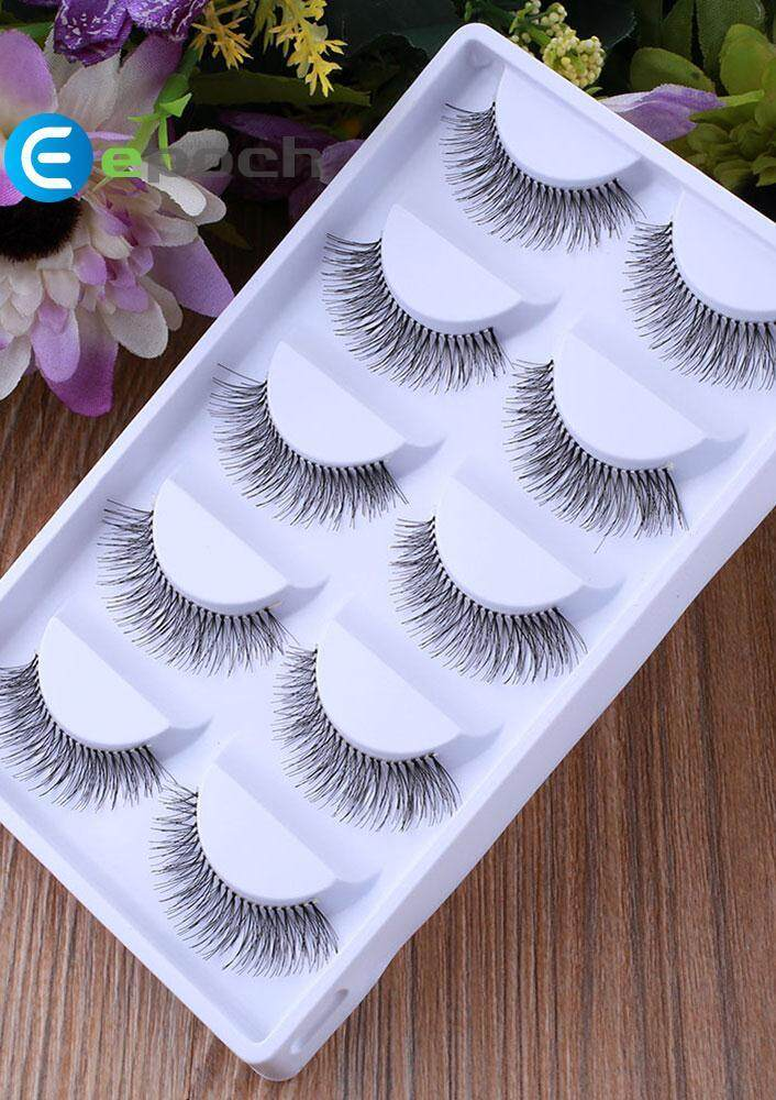 Fashion 5pairs Natural Sparse Eye Lashes Extension Long False Eyelashes By Epoch.