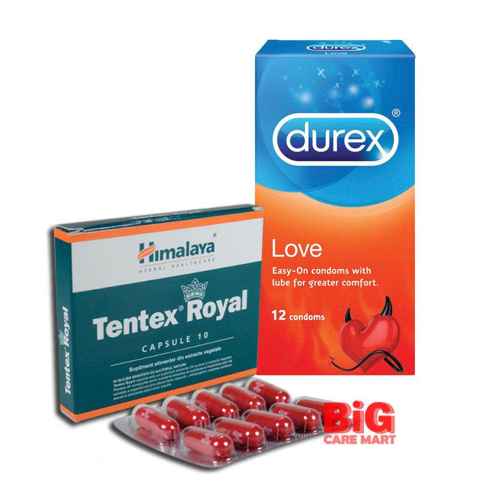 HIMALAYA TENTEX ROYAL 10'S + DUREX LOVE CONDOMS 12S