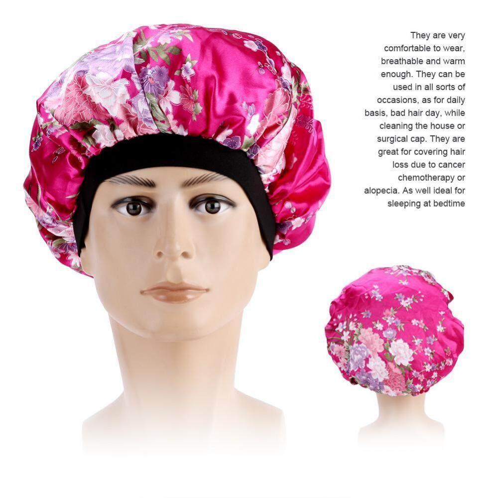 aefc30d25d2 Womens Hair Loss Head Scarf Cancer Hat Chemo Cap Turban Head Wrap Cover  Satin Sleeping Cap