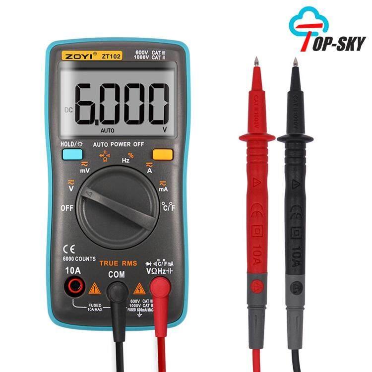 Digital Multimeter, Auto Ranging Pocket Digital Multimeter Digital Multi Tester - Ac Dc Voltage Dc Current Resistance Diodes Capacitance Transistor Backlit Lcd Measuring Instrument By Topsky.