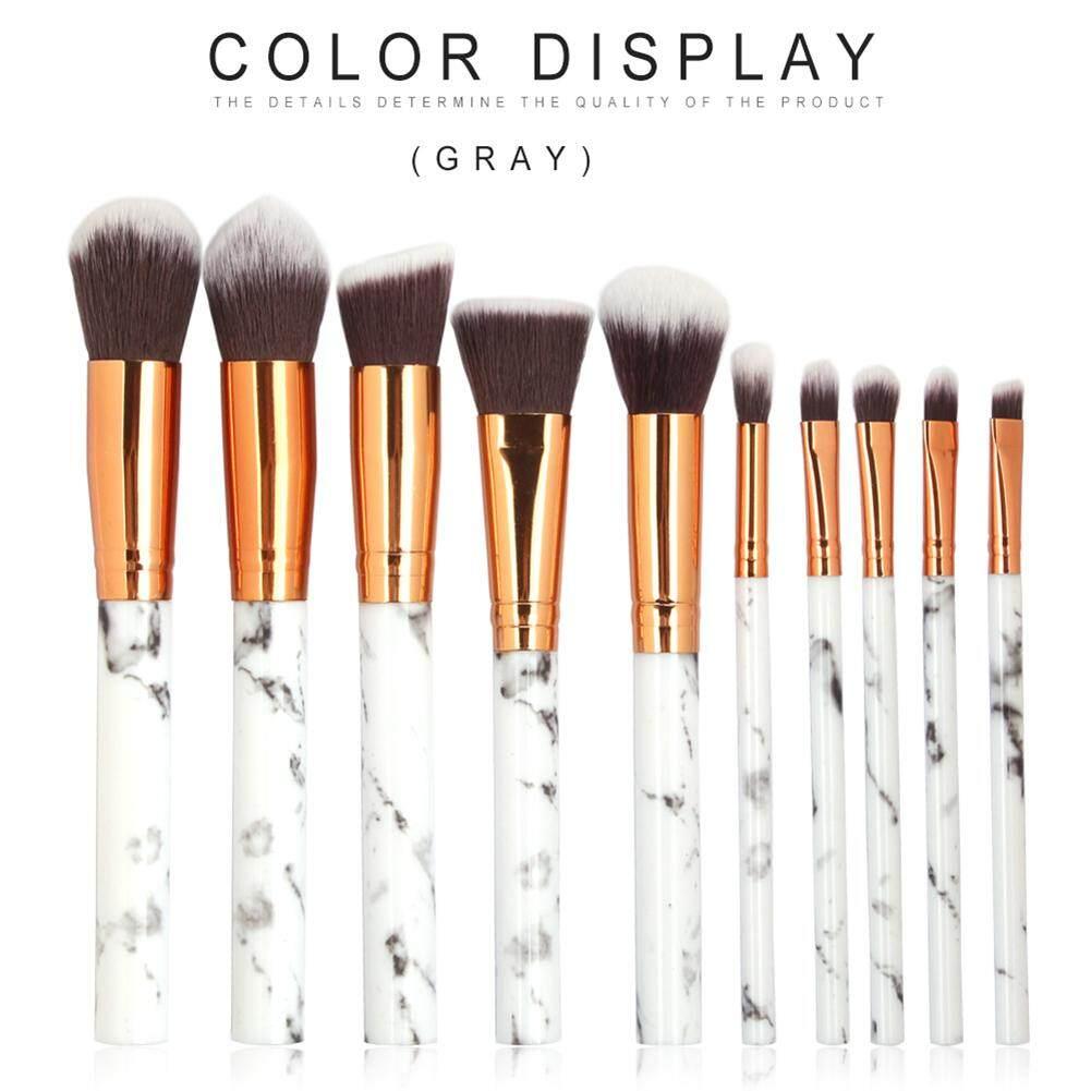 Bly Makeup Set Kuas Profesional 10 Pcs Kit Bubuk Pondasi Sikat Penyamar Perona .