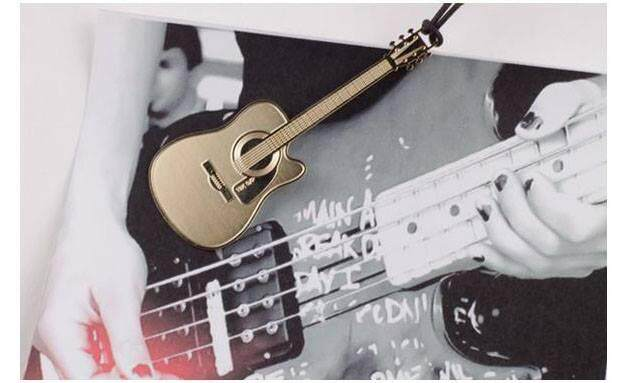 Gold Guitar Bookmark