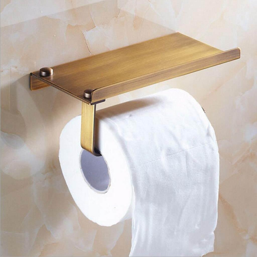 BolehDeals Stainless Steel Toilet Paper Towel Holder Bathroom Roll Tissue Storage Rack