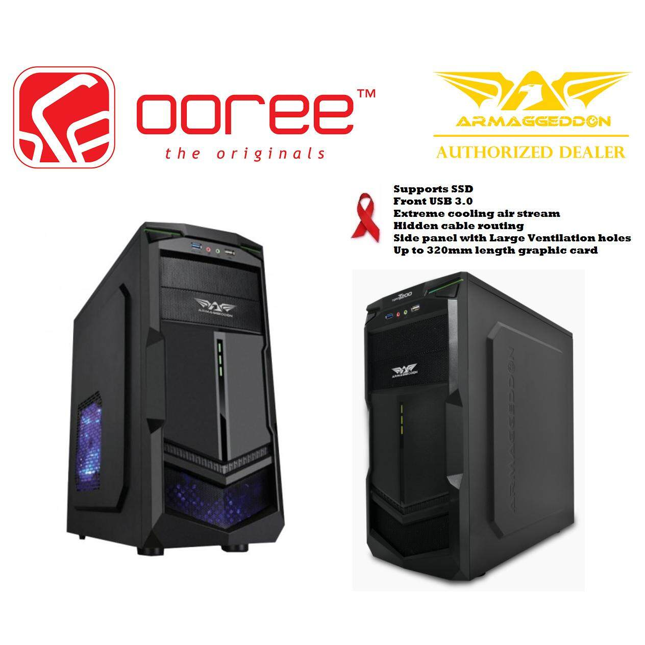 GENUINE ARMAGGEDDON ATX TORO T200 GAMING CHASIS WITH EXTREME COOLING AIR STREAM Malaysia