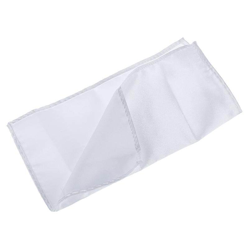 Mens Pocket Hanky Plain Color Wedding Party Square Hankerchief (white) By Happyang.