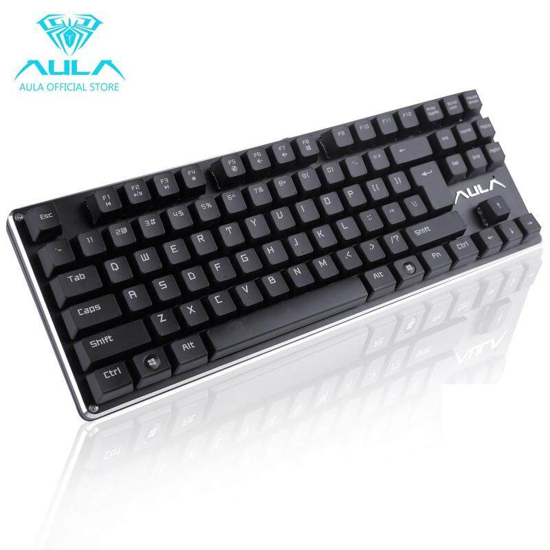 AULA  Mechanical Gaming Keyboard USB Wired Keyboard for Game F2012 (Black) Singapore