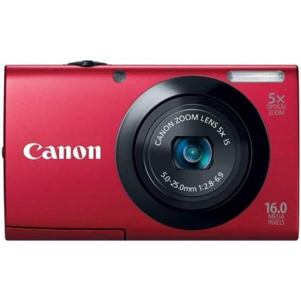 Canon PowerShot A3400 16.0 Kamera Digital MP dengan 5x Gambar Optik Stabil Zoom 28 Mm Lensa Wide-Angle dengan 720 P Rekaman Video HD dan 3.0-Inch LCD Panel Sentuh (Merah)
