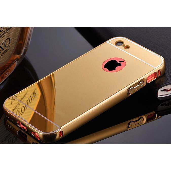 Moonmini Case for iPhone 5C Luxury View Mirror Case Slim Electroplating Bumper Hard Back Case Protective