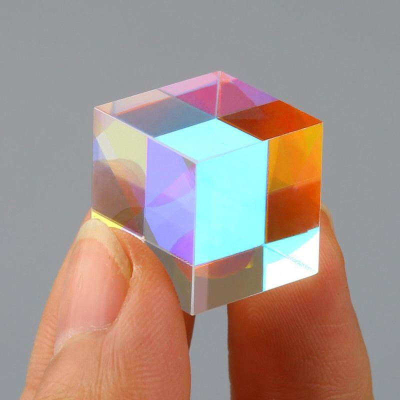 30mm Cube Defective Cross Dichroic Prism RGB Combiner Splitter Glass - intl