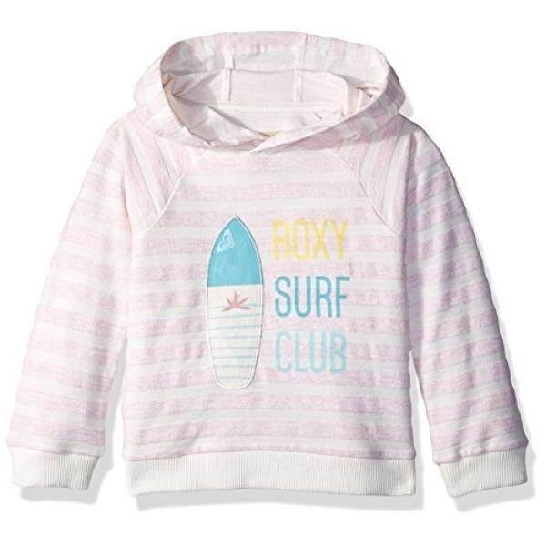 ROXY Gadis Kecil Mudah untuk Memulai Sweater Rose Tan Heather Bico Garis-garis, 6-Intl