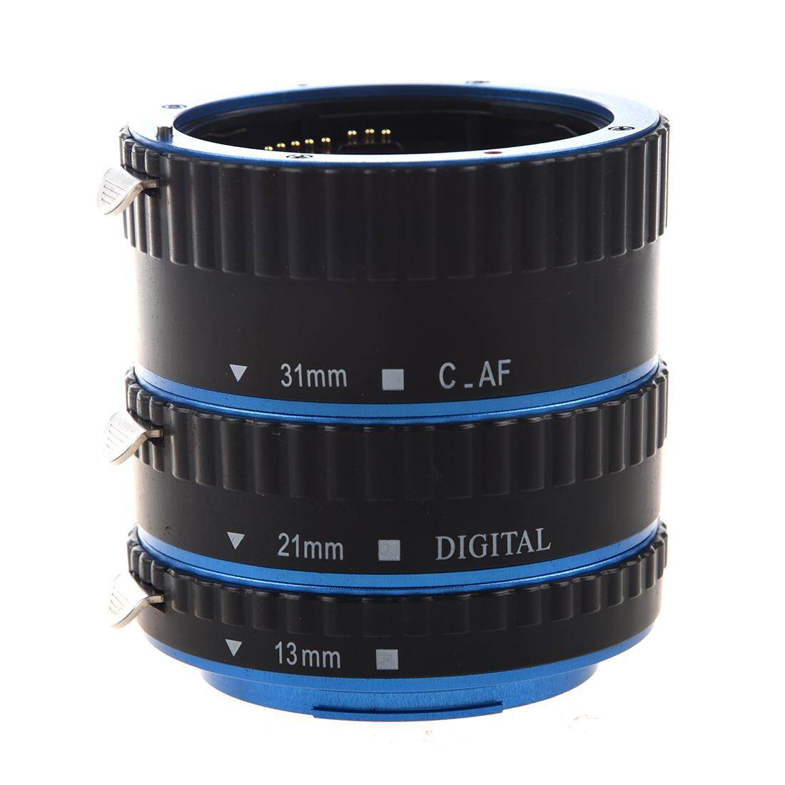 Colorful Metal TTL & Autofocus AF Macro Extension Tube Ring for all Canon EF and EF-S lenses Canon EOS EF EF-S 60D 7D 5D II 550D (Blue Black)