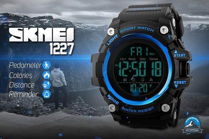 [LOCAL DELIVERY] SKMEI 1227 Smart Watch Sport Watch Waterproof Watch for Outdoor Activities - BLUE