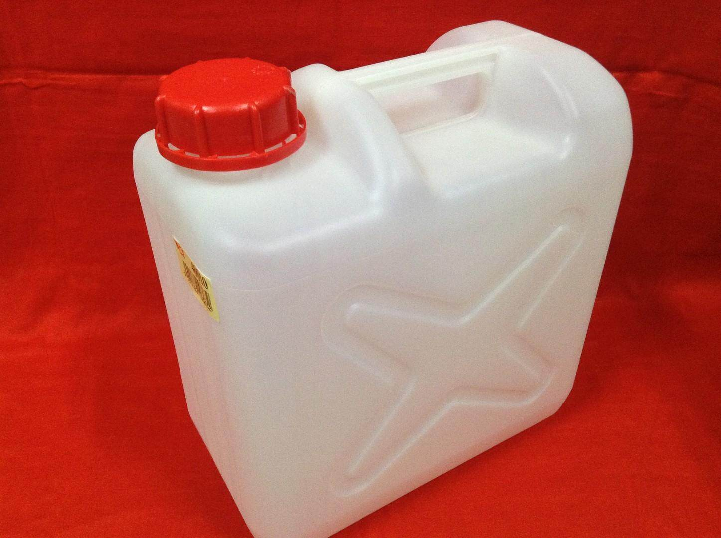 1pc Jerry Can 10 Liter for Petrol, Chemical, Alkaline Water. Ship in 6 Hours ! (Off White)