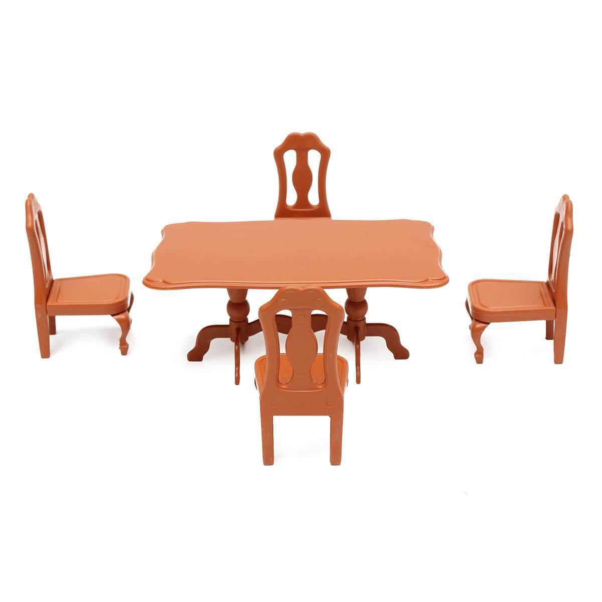 Meja Plastik Miniatur Doll Rumah Furniture Set Ruang Tamu Dapur Dekorasi-Internasional