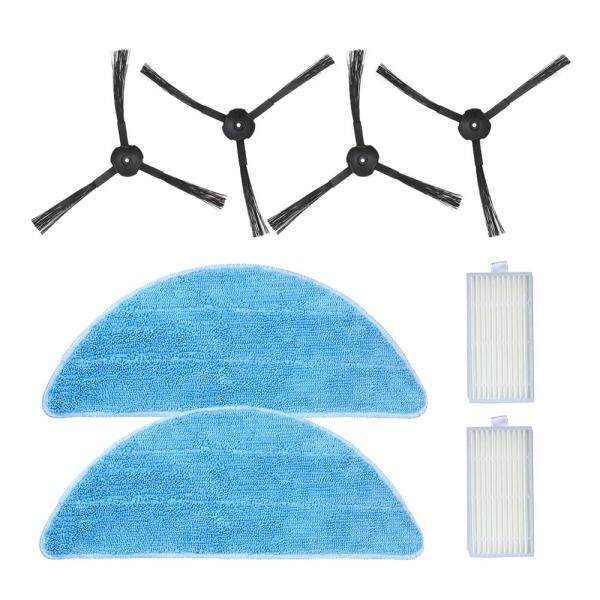 Pack of 8 Replacement Accessories Kit Mops + Side Brushes + HEPA Filters for ILIFE V5S V3S V3 V5 Pro Robotic Vacuum Cleaner - intl Singapore