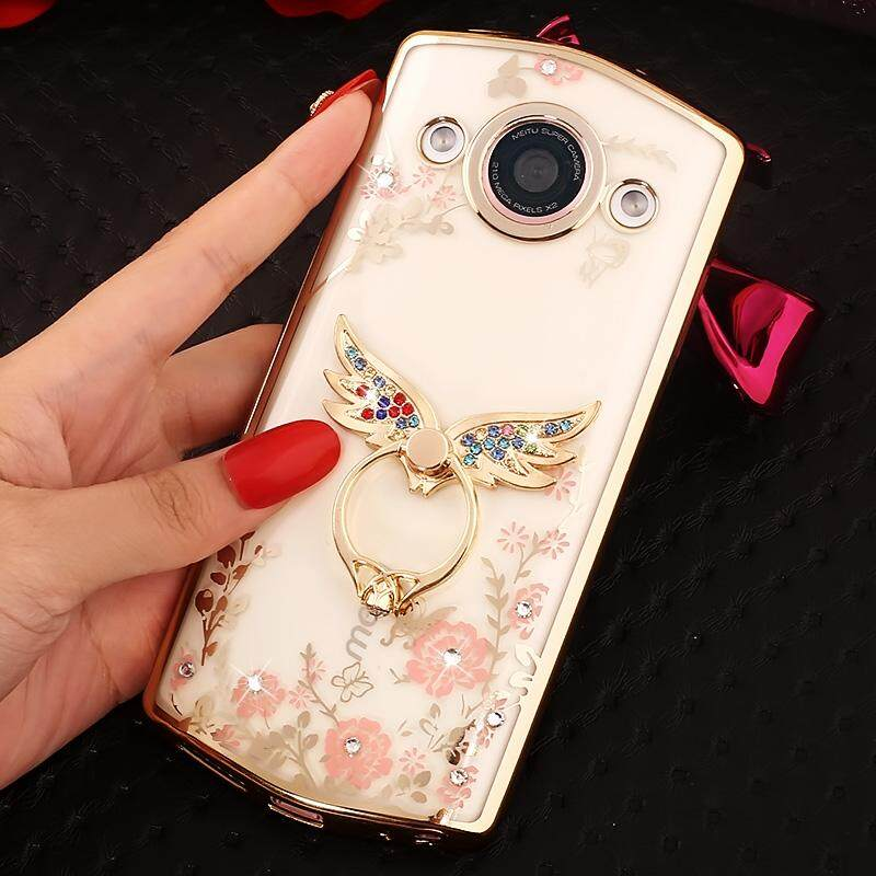 2017 Meitu m6 Mobile Shell MP1503 Cover Silicone Rhinestone Lady Paragraph Transparent M6 Ring Soft shell
