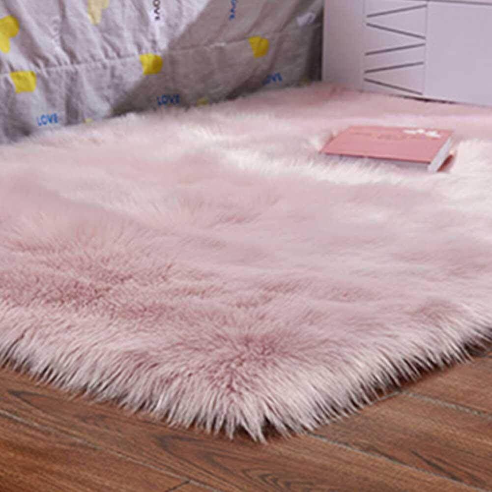 Qe Mudah Dicuci Kulit Domba Tiruan Sarung Kursi Hangat Berbulu Wol Karpet Bantalan Kursi Karpet Berbulu