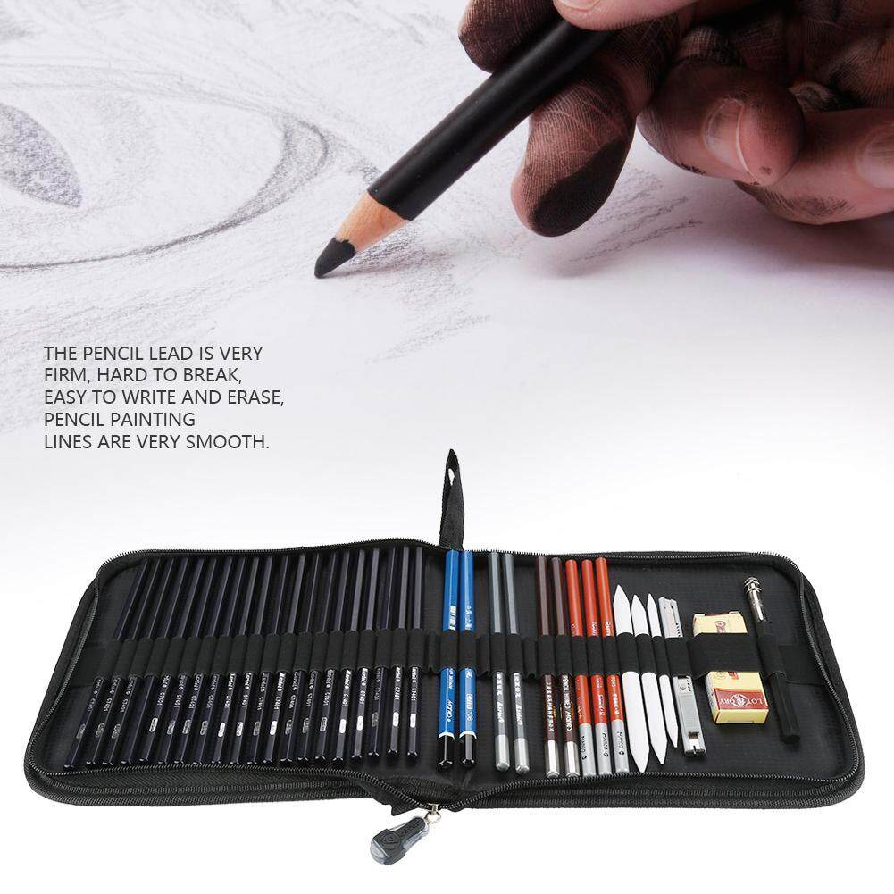 Marley Sketch Pencils Eraser Charcoal Pencil Drawing Art Supply Set