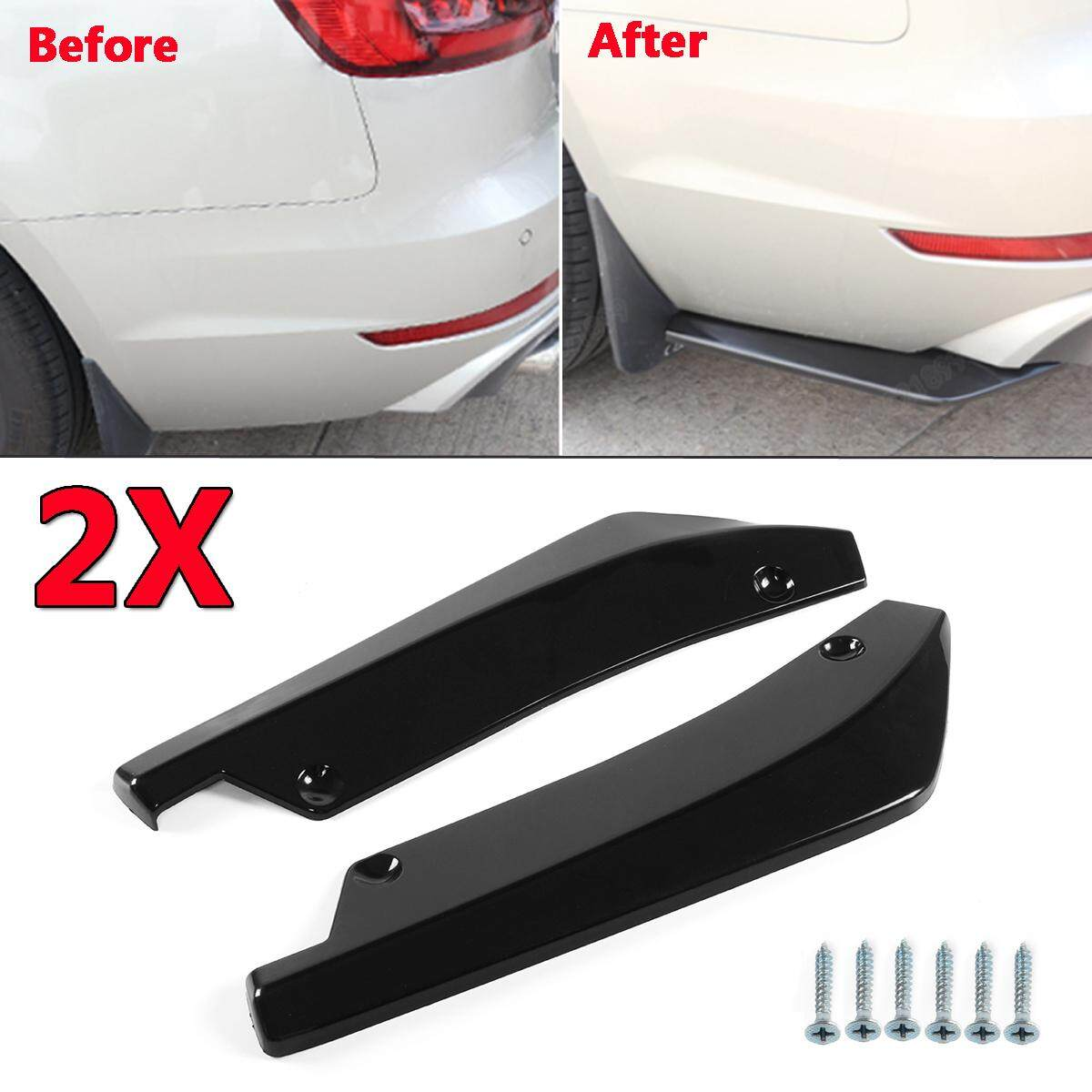 Universal Car Bright Black Rear Bumper Lip Wrap Angle Splitters With Bolts Abs By Audew.