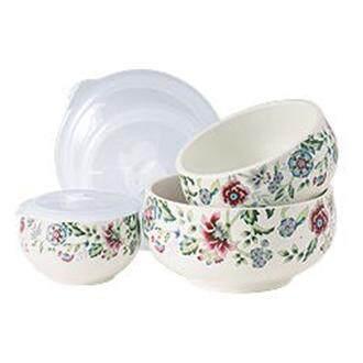 Premium Ceramic Bowl Set With Lid