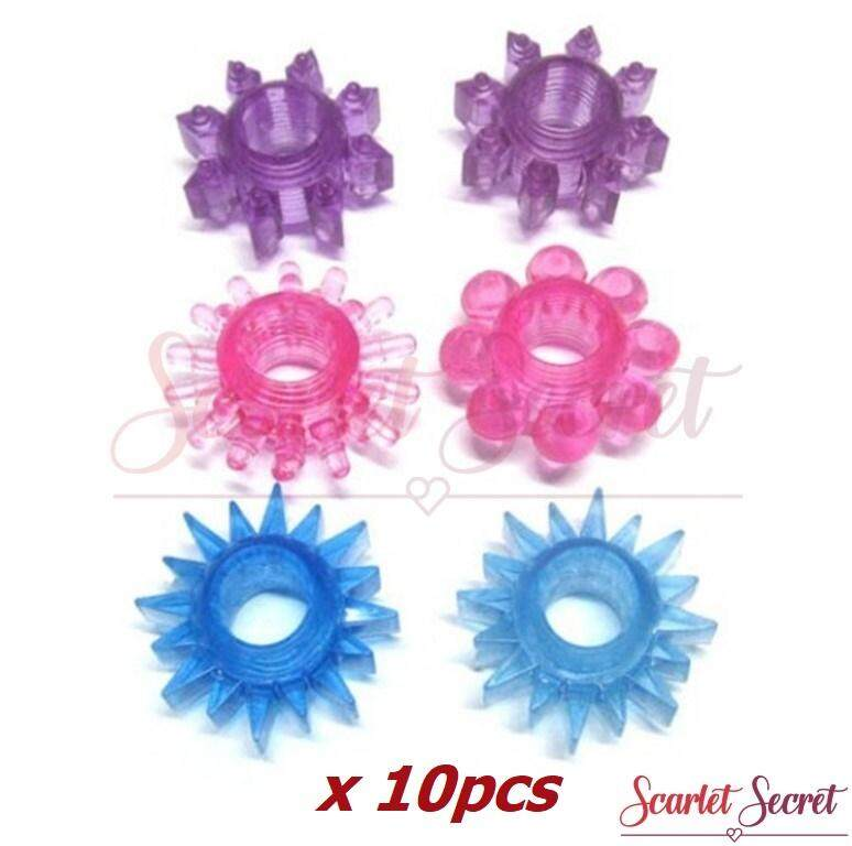 (10pcs) Men Soft Silicone Erection Ejaculation Delay Ring Sex Toy