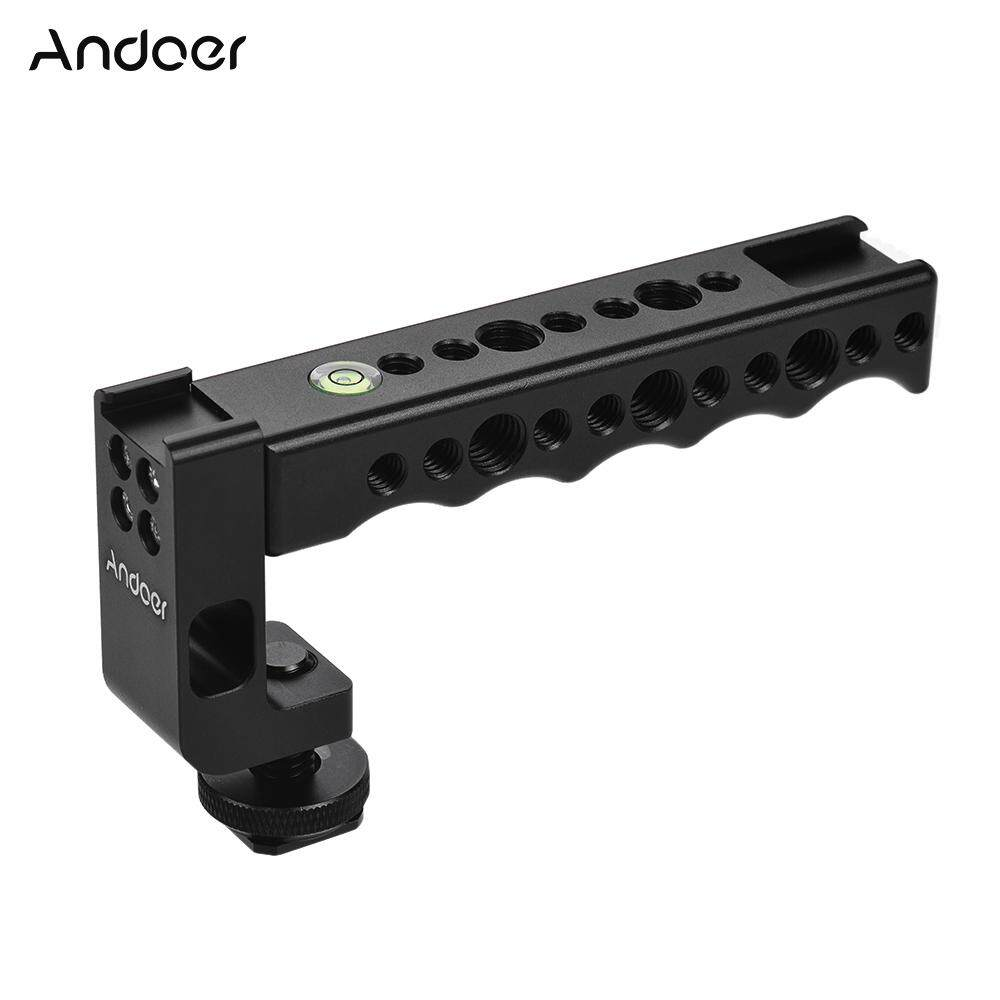 Andoer Camera Top Handle Grip with Dual Cold Shoe Base for Canon EOS Nikon Sony A7